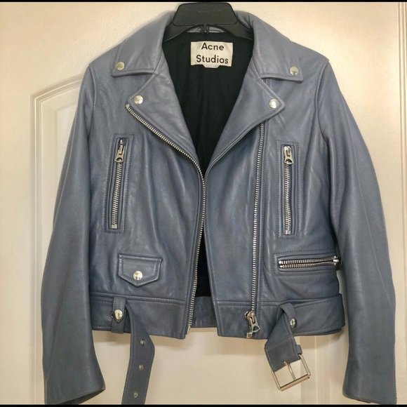 46fdd6050 Acne studios powder blue leather jacket